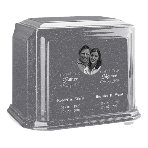 Picture Gray Marble Urn For Two