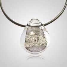 Gray Memorial Jewelry Pendant
