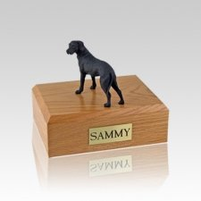 Great Dane Black Ears Down Standing Small Dog Urn