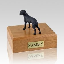 Great Dane Black Ears Down Standing Dog Urns