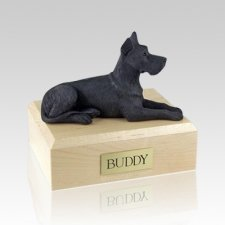 Great Dane Black Large Dog Urn