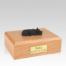 Great Dane Black Laying Large Dog Urn