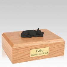 Great Dane Black Laying Dog Urns