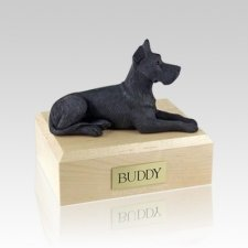 Great Dane Black Medium Dog Urn