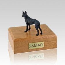 Great Dane Black Standing Large Dog Urn