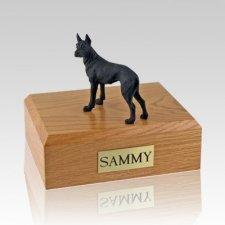 Great Dane Black Standing X Large Dog Urn