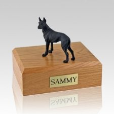 Great Dane Black Standing Dog Urns