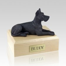 Great Dane Black X Large Dog Urn