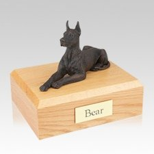 Great Dane Bronze Large Dog Urn