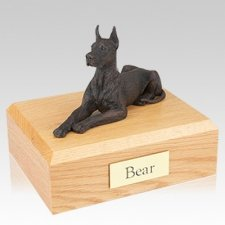 Great Dane Bronze Dog Urns