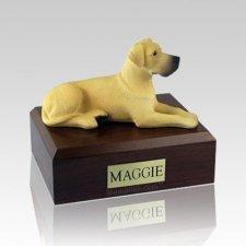 Great Dane Fawn Ears Down Large Dog Urn