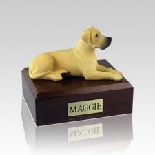 Great Dane Fawn Ears Down Medium Dog Urn