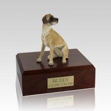 Great Dane Fawn Ears Down Sitting Medium Dog Urn