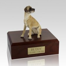 Great Dane Fawn Ears Down Sitting X Large Dog Urn