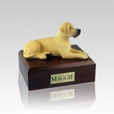 Great Dane Fawn Ears Down Small Dog Urn