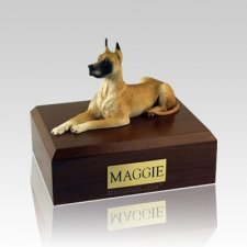 Great Dane Fawn Laying Large Dog Urn