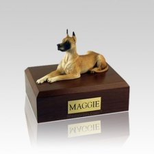 Great Dane Fawn Laying Small Dog Urn