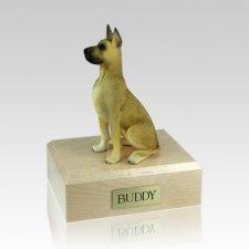 Great Dane Fawn Sitting Large Dog Urn