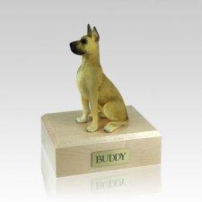 Great Dane Fawn Sitting Medium Dog Urn