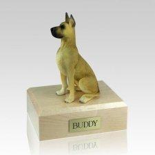 Great Dane Fawn Sitting X Large Dog Urn