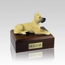 Great Dane Fawn Small Dog Urn