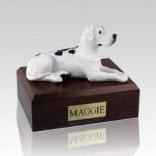 Great Dane Harlequin Ears Down Laying Dog Urns