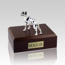 Great Dane Harlequin Ears Down Standing Large Dog Urn
