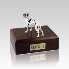 Great Dane Harlequin Ears Down Standing Medium Dog Urn