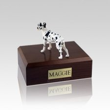 Great Dane Harlequin Ears Down Standing Small Dog Urn