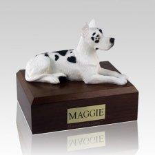 Great Dane Harlequin Laying Dog Urns