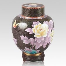 Great Wall Black Cloisonne Keepsake Urns