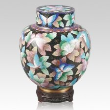 Great Wall Butterflies Cloisonne Keepsake Urns