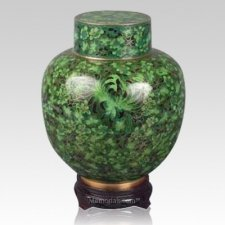 Great Wall Green Cloisonne Keepsake Urns