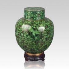 Emperor Green Medium Cloisonne Urn