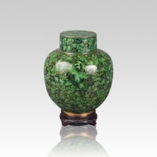 Emperor Green Small Cloisonne Urn
