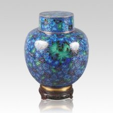 Emperor Blue Medium Cloisonne Urn
