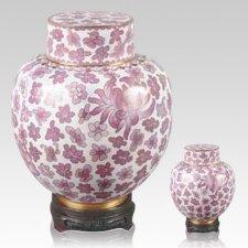 Emperor Pink Cloisonne Cremation Urns