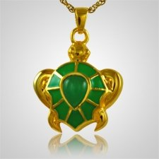 Green Turtle Cremation Jewelry II
