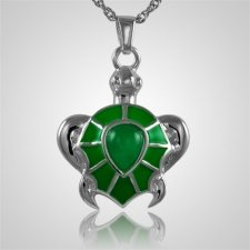 Green Turtle Cremation Jewelry III