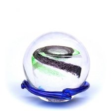 Green & Black Galaxy Medium Memory Glass Keepsake