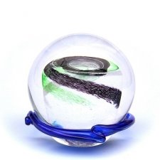 Green & Black Galaxy Memory Glass Keepsakes