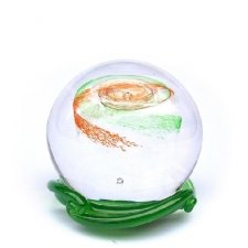 Green & Red Galaxy Medium Memory Glass Keepsake