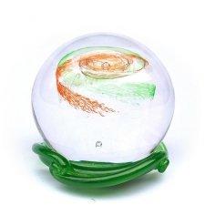 Green & Red Galaxy Memory Glass Keepsake