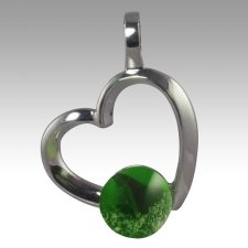 Green Amore Cremation Ash Pendant