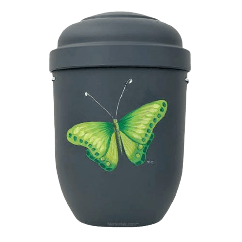 Green Butterfly Biodegradable Urn