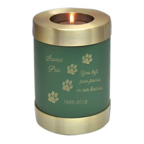 Green Candle Pet Cremation Urn