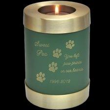 Green Candle Pet Keepsake Cremation Urn
