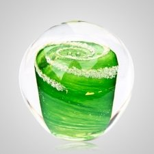 Green Cremation Glass Weight