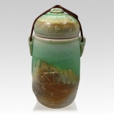 Green Forest Cremation Urn