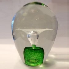 Green Geyser Glass Cremation Keepsake